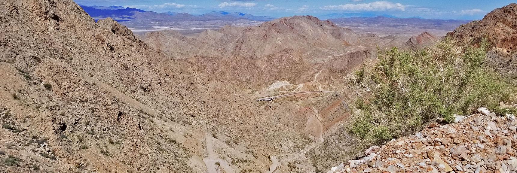 View Back Down Toward Trailhead for Frenchman Mountain, Nevada