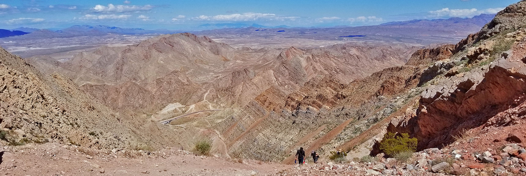 View Back Down to Trailhead for Frenchman Mountain, Nevada