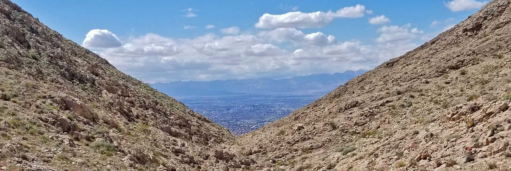 View of Las Vegas Valley from Saddle of Frenchman Mountain, Nevada