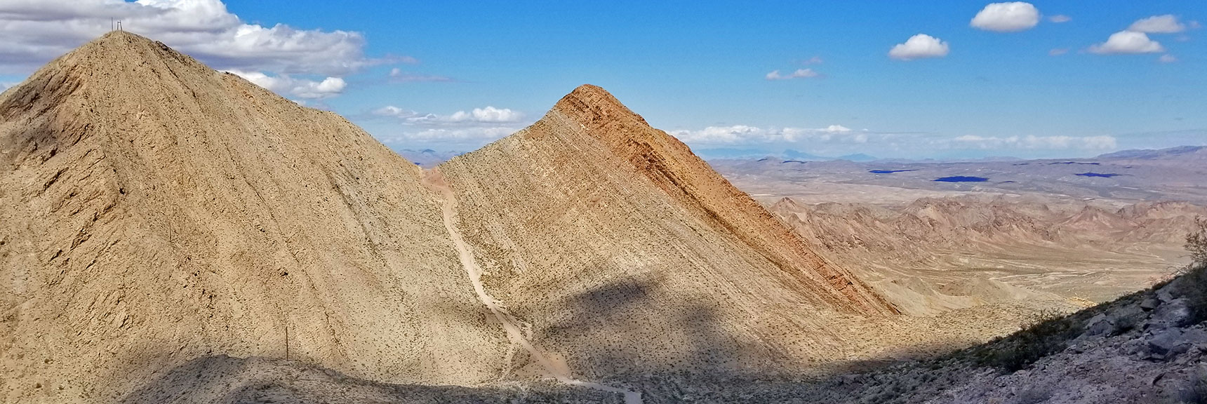 View Back Toward First Summit of Frenchman Mountain, Nevada