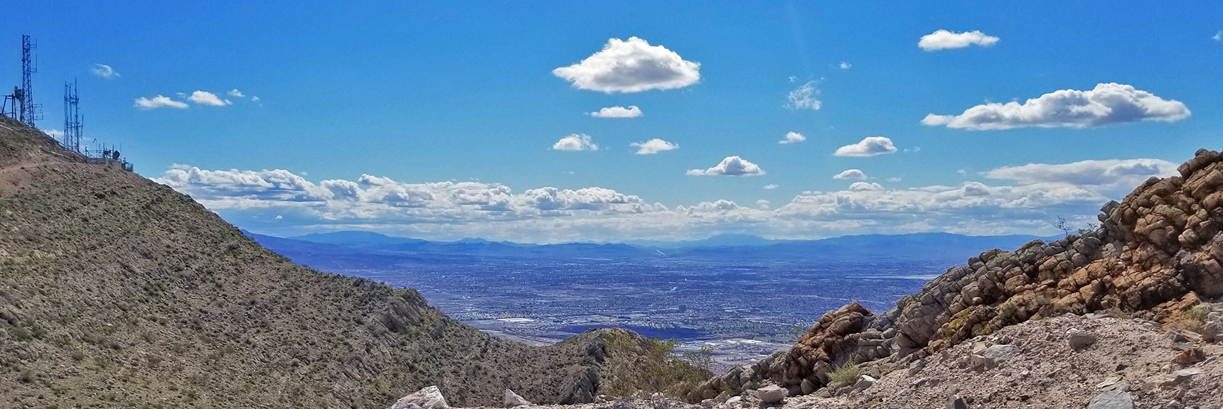 View of Las Vegas Valley from Near Second Summit of Frenchman Mountain, Nevada
