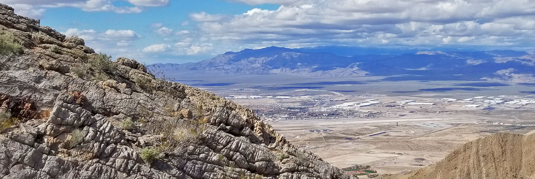 View of Gass Peak from Frenchman Mountain, Nevada
