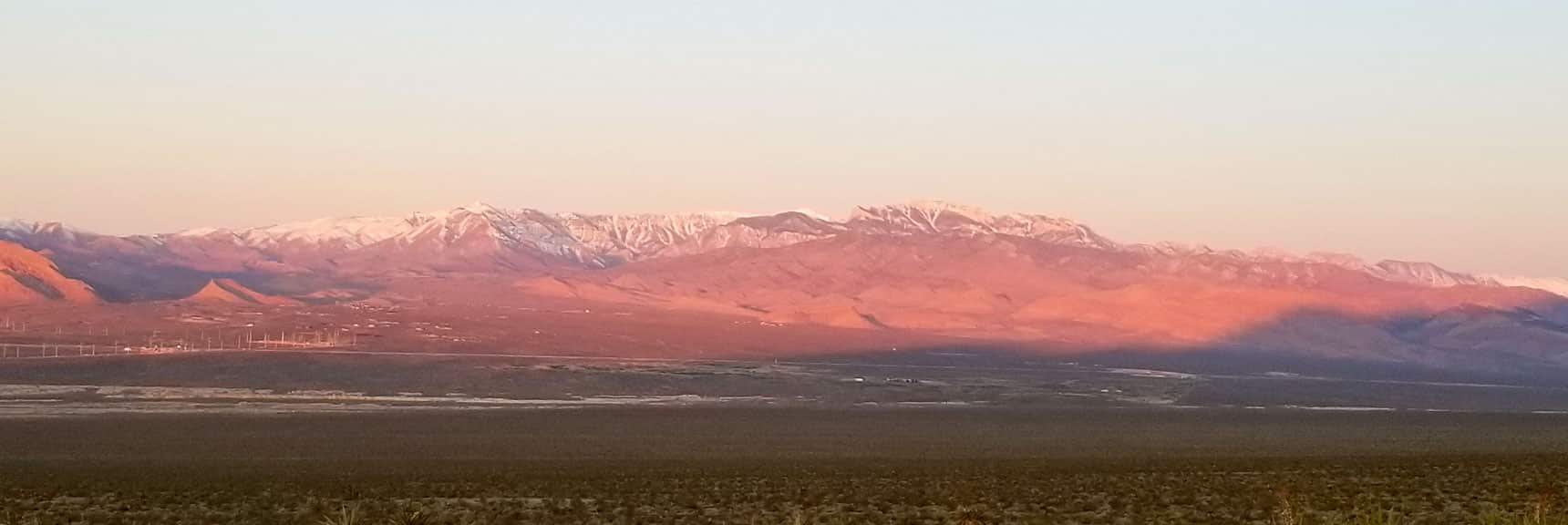 Sunrise View Toward Mt. Charleston Wilderness | Gass Peak Eastern Summit Ultra-marathon Adventure, Nevada