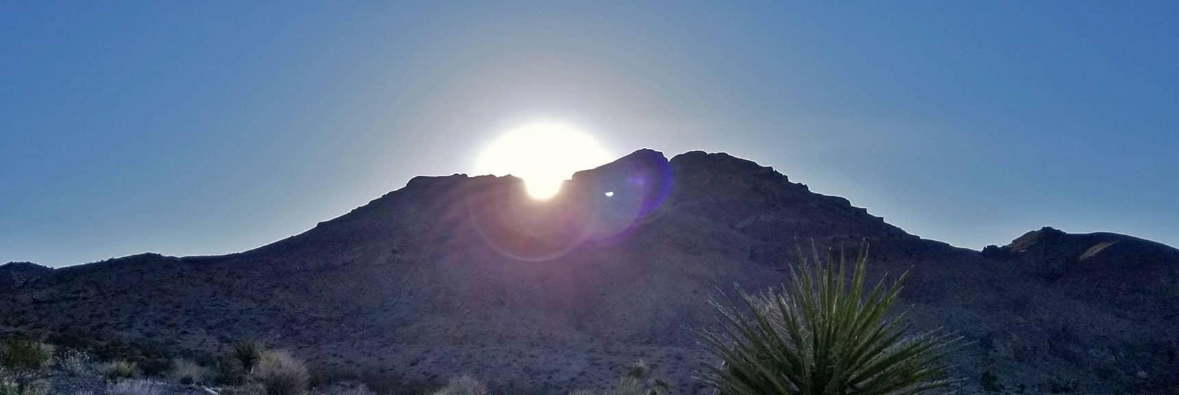 Sunrise Over the West Side of Gass Peak | Gass Peak Eastern Summit Ultra-marathon Adventure, Nevada
