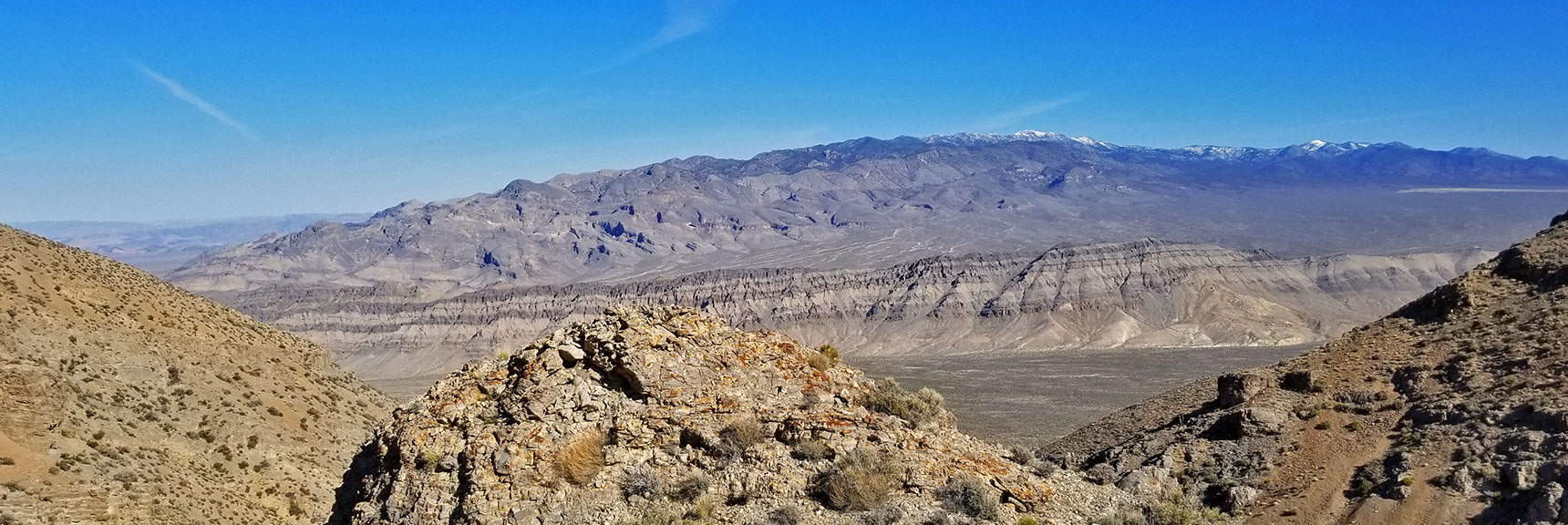 View Down the Mid-Summit Ridge Northern Canyon Toward the Sheep Range | Gass Peak Eastern Summit Ultra-marathon Adventure, Nevada