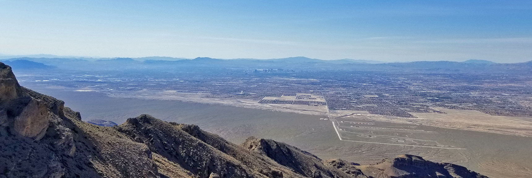 View of Las Vegas Upon Topping the Mid-Summit Ridge| Gass Peak Eastern Summit Ultra-marathon Adventure, Nevada