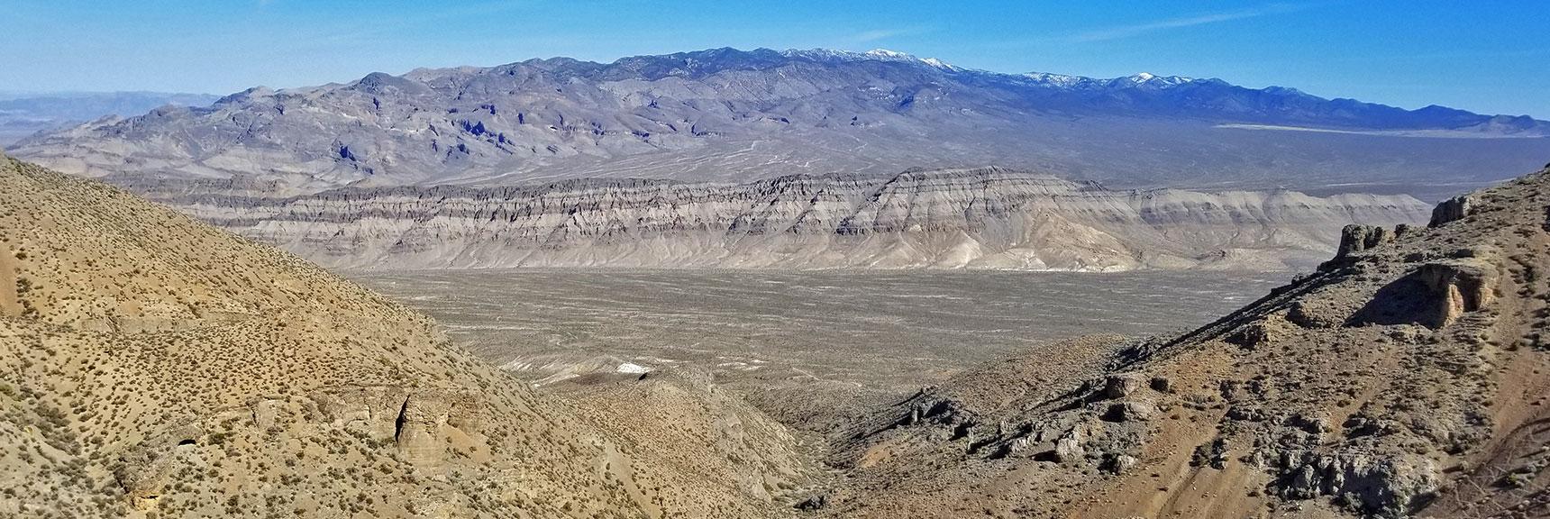 View Down the Gass Peak Mid-Summit Ridge Northern Canyon to the Sheep Range | Gass Peak Eastern Summit Ultra-marathon Adventure, Nevada