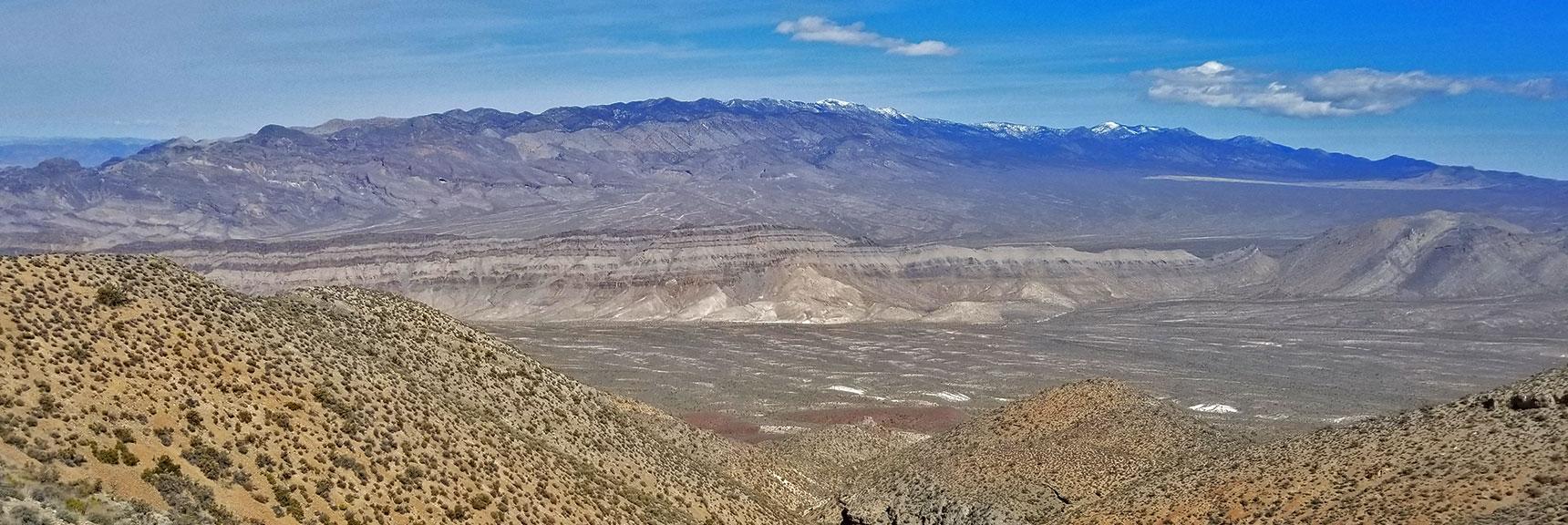 View of the Sheep Range from the Gass Peak Gauntlet Route | Gass Peak Eastern Summit Ultra-marathon Adventure, Nevada