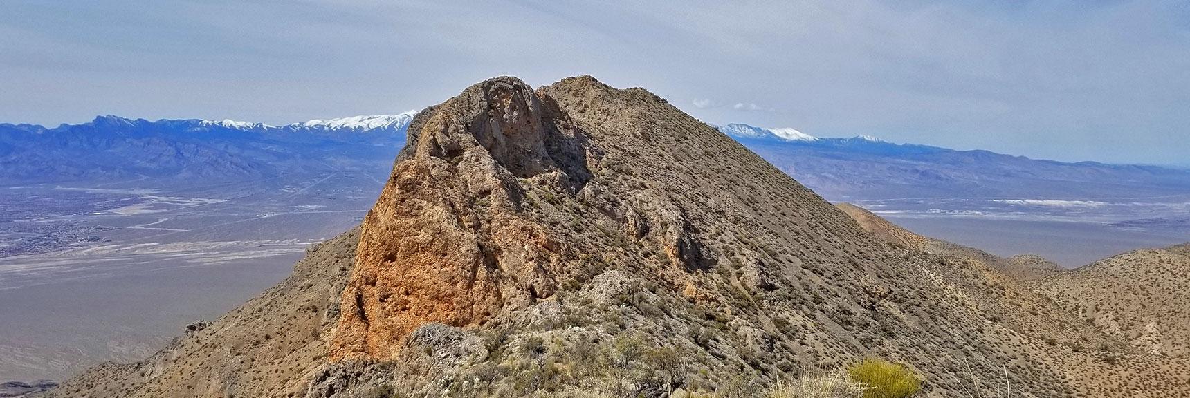 View of the Mid-Summit Bluff Avalanche Slope on the Gass Peak Gauntlet Route | Gass Peak Eastern Summit Ultra-marathon Adventure, Nevada