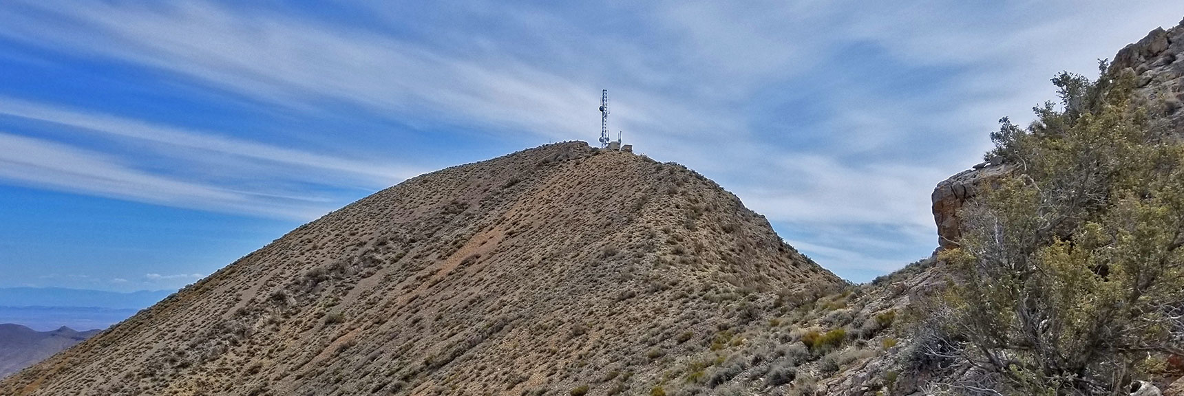 Closing in on the Gass Peak Eastern Summit from the Gass Peak Gauntlet Route | Gass Peak Eastern Summit Ultra-marathon Adventure, Nevada