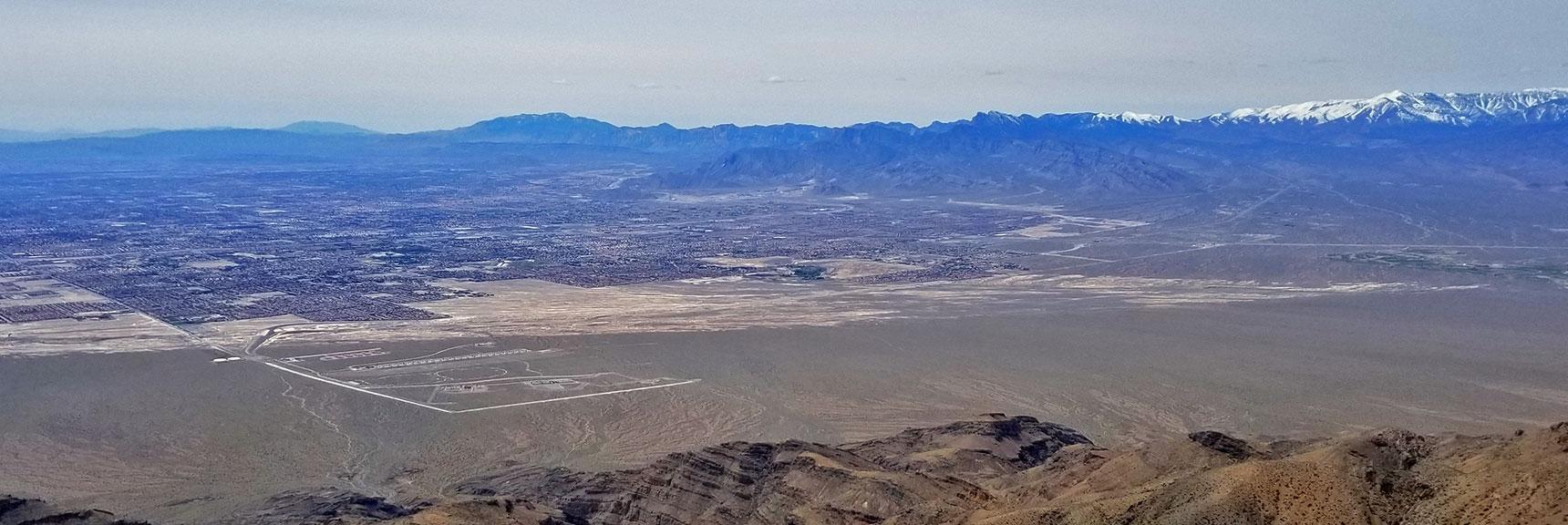 View of Northwestern Las Vegas from Near the Gass Peak Eastern Summit | Gass Peak Eastern Summit Ultra-marathon Adventure, Nevada