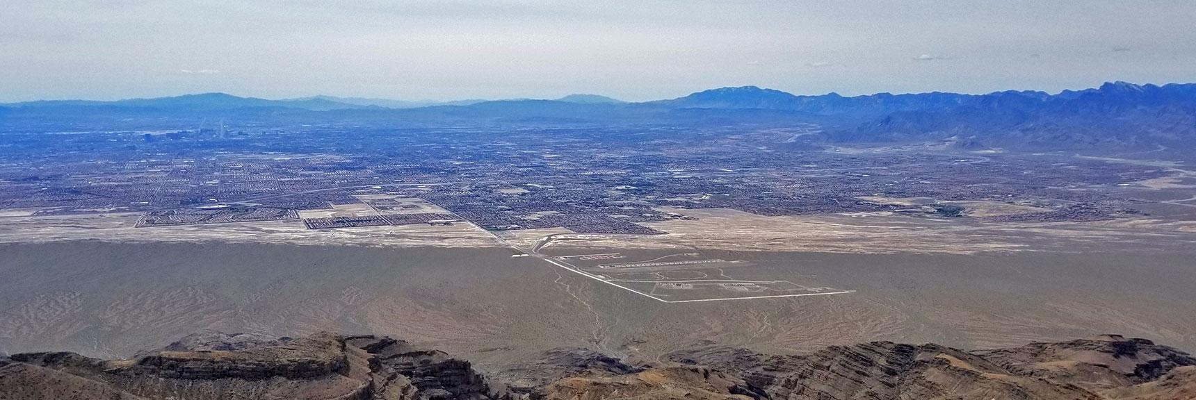 View of Northern Las Vegas from Near the Gass Peak Eastern Summit | Gass Peak Eastern Summit Ultra-marathon Adventure, Nevada