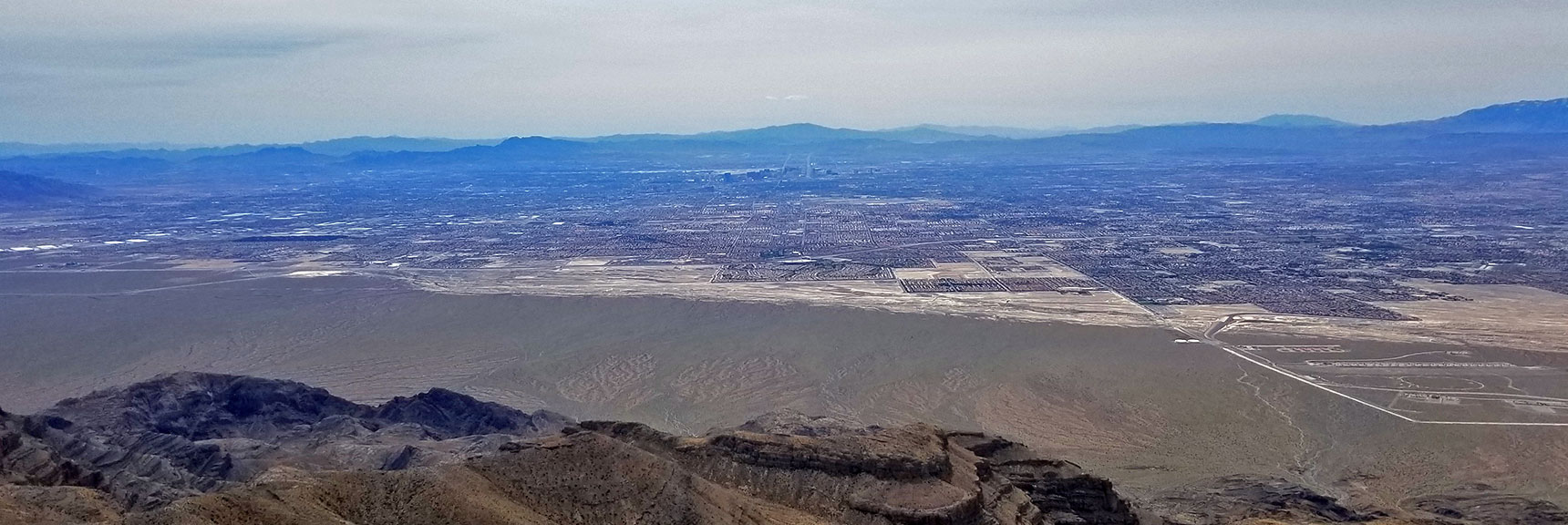 View of Northeastern Las Vegas from Near the Eastern Summit of Gass Peak | Gass Peak Eastern Summit Ultra-marathon Adventure, Nevada