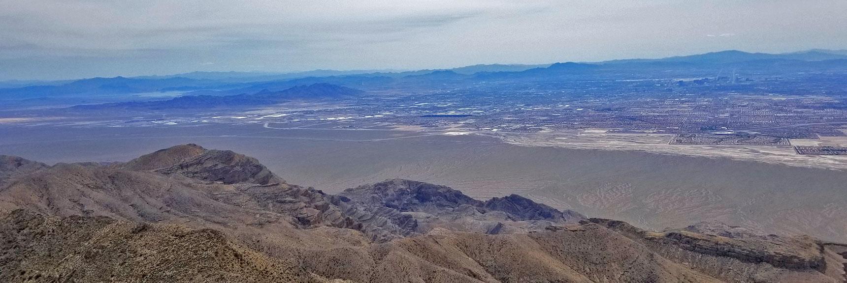 View of Eastern Las Vegas and Lake Mead from Near the Eastern Summit of Gass Peak | Gass Peak Eastern Summit Ultra-marathon Adventure, Nevada