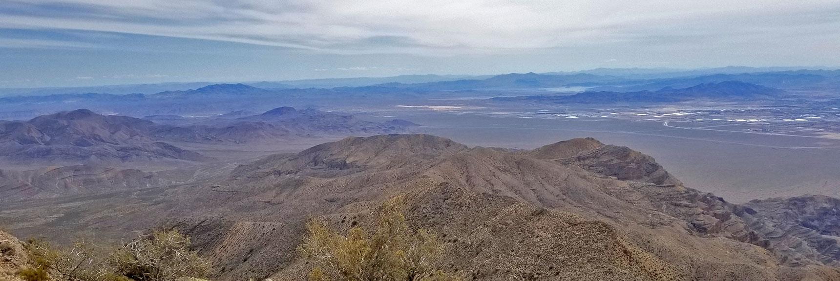 View of Lake Mead and East of Las Vegas from Near Gass Peak Eastern Summit | Gass Peak Eastern Summit Ultra-marathon Adventure, Nevada