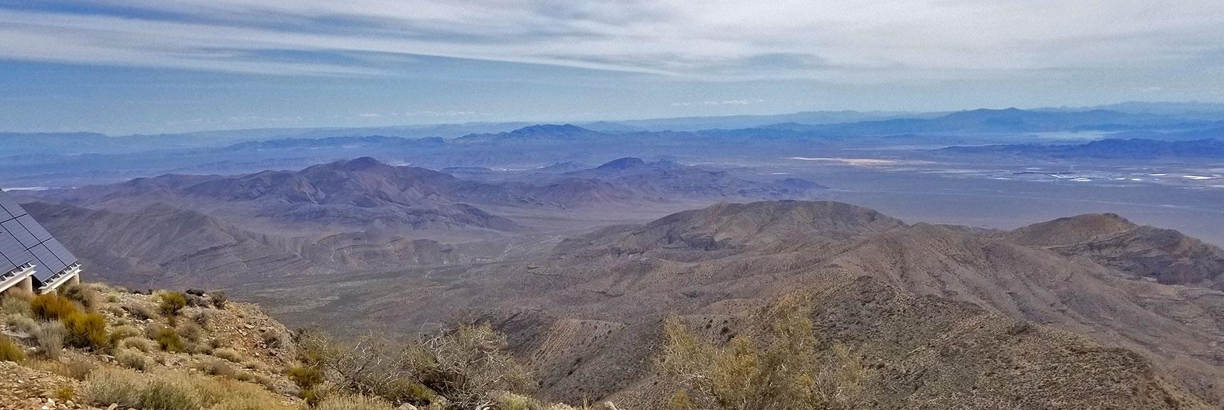 View East of Las Vegas from Gass Peak Eastern Summit | Gass Peak Eastern Summit Ultra-marathon Adventure, Nevada