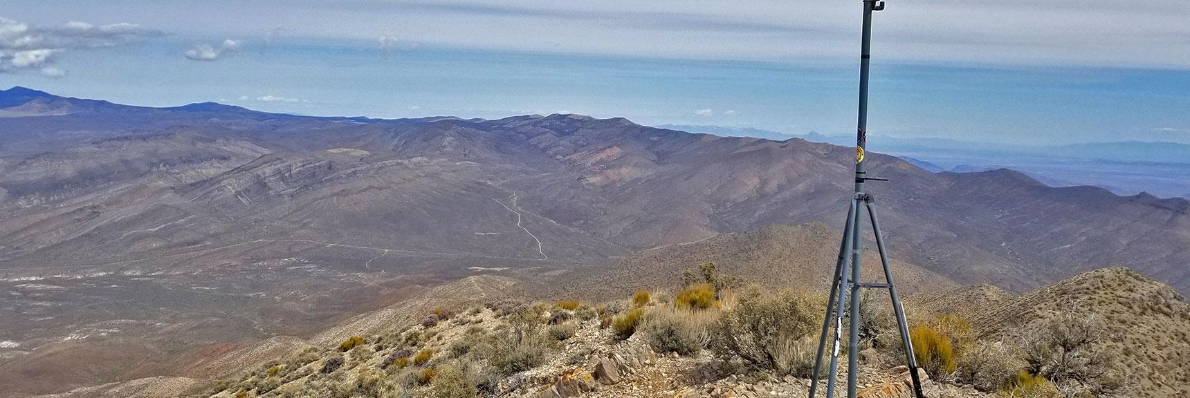 View East from Gass Peak Eastern Summit | Gass Peak Eastern Summit Ultra-marathon Adventure, Nevada
