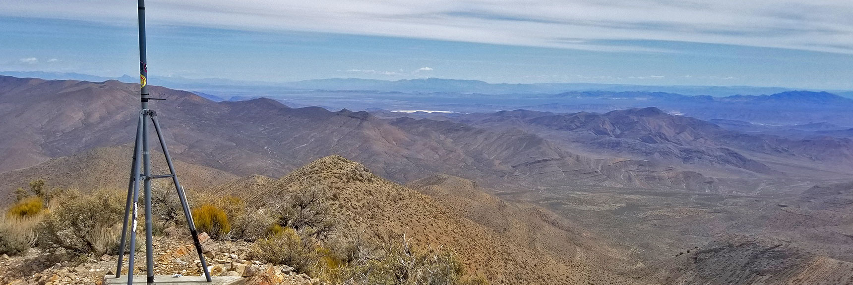 View Southeast from Gass Peak Eastern Summit | Gass Peak Eastern Summit Ultra-marathon Adventure, Nevada