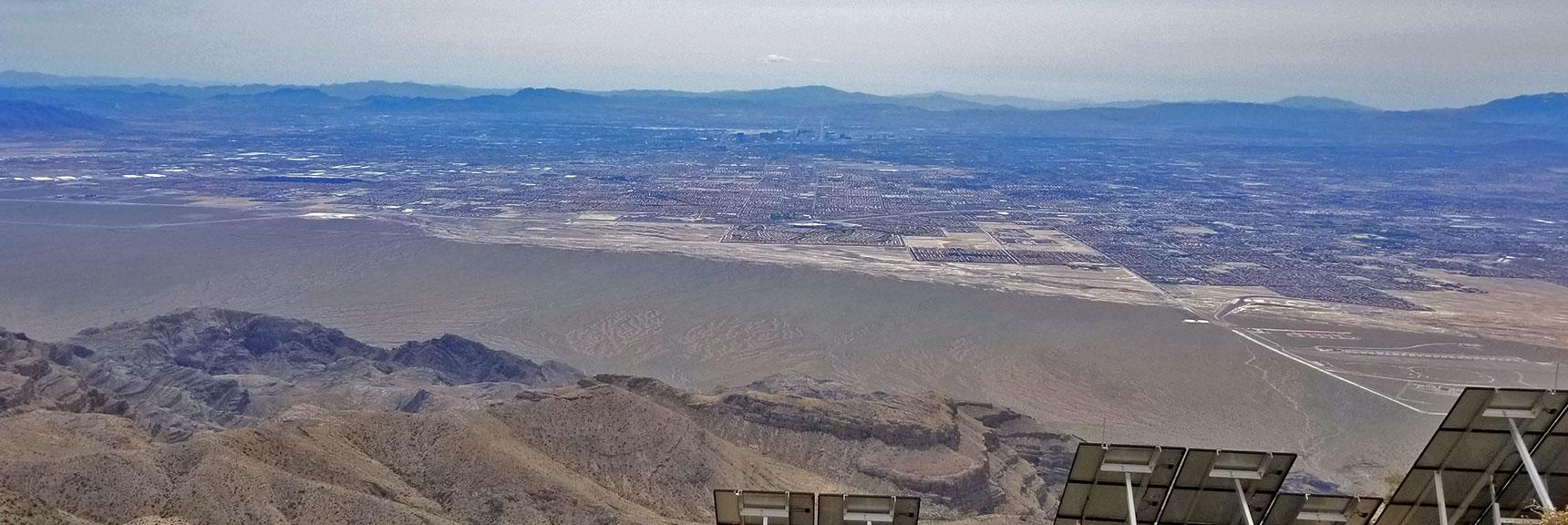 View South Toward Las Vegas from Gass Peak Eastern Summit | Gass Peak Eastern Summit Ultra-marathon Adventure, Nevada