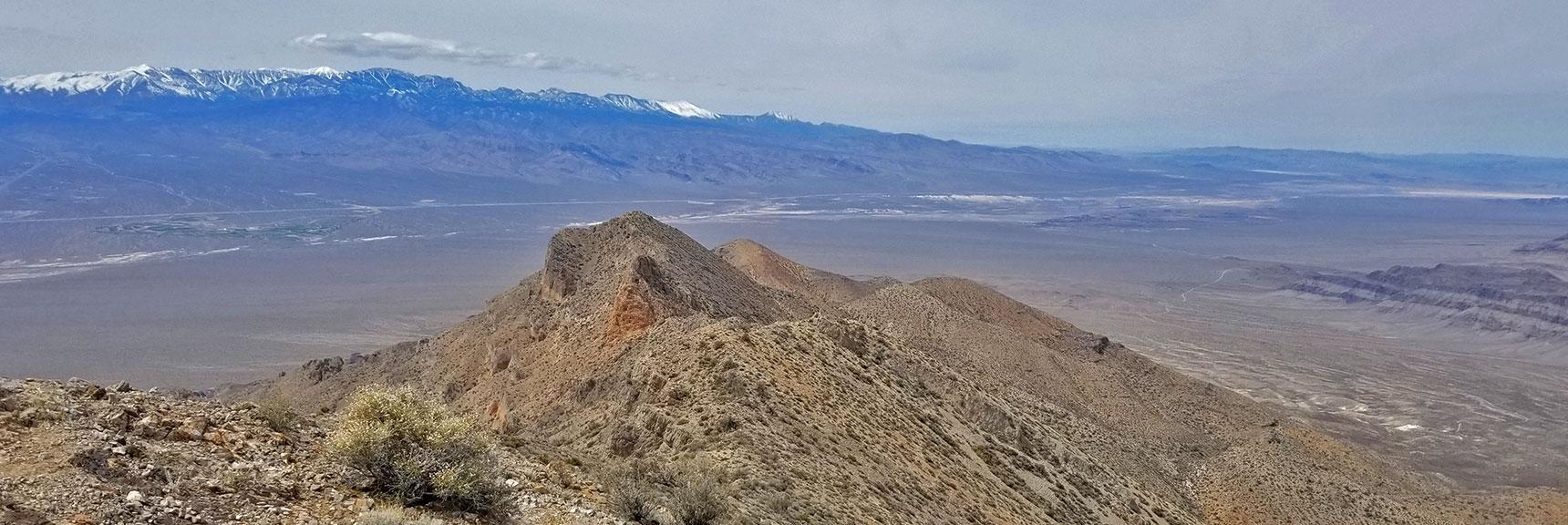 View West Along the Gass Peak Gauntlet from Gass Peak Eastern Summit | Gass Peak Eastern Summit Ultra-marathon Adventure, Nevada