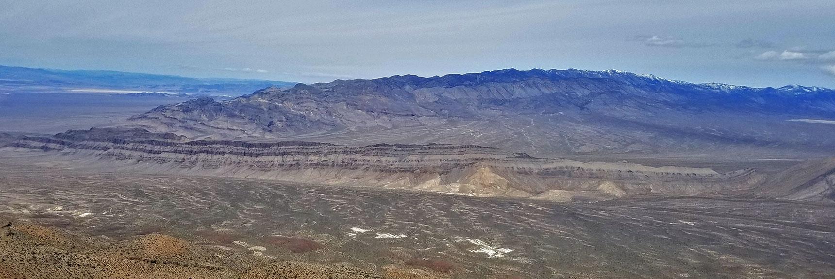 View North Toward the Sheep Range fro Gass Peak Eastern Summit | Gass Peak Eastern Summit Ultra-marathon Adventure, Nevada