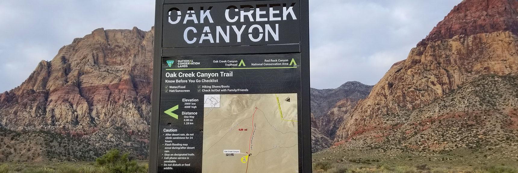 Oak Creek Canyon Trailhead, Juniper Peak, Rainbow Mountain Wilderness, Nevada
