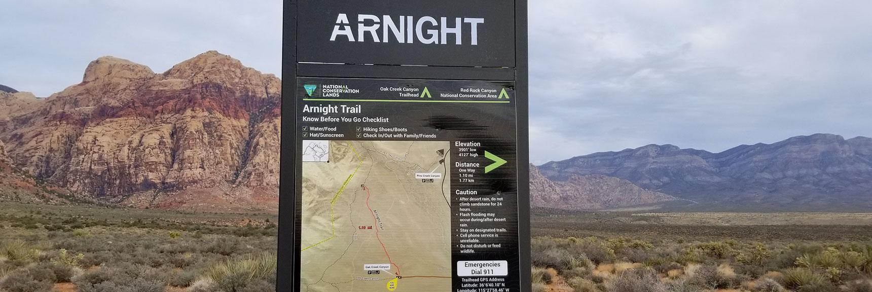 Arnight Trail Along the Base of the Rainbow Mountains, Rainbow Mountain Wilderness, Nevada