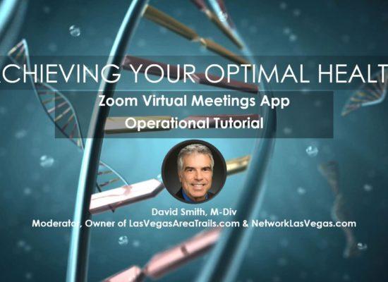 Zoom Virtual Meeting App Operational Tutorial David Smith