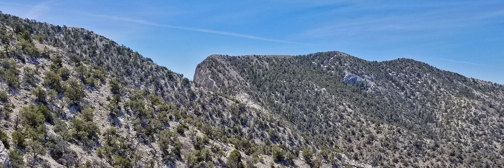 View Above Southern Pass Between La Madre and El Padre Mountain, Nevada