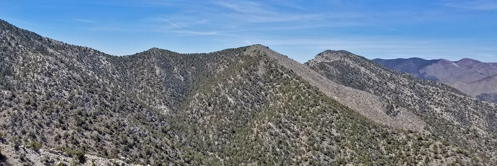View of El Padre Mountain and Westward Beyond Along Keystone Thrust, Nevada