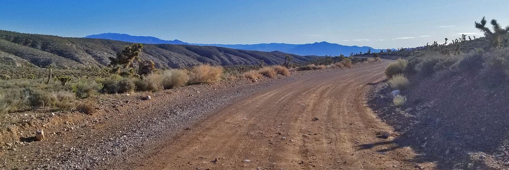 Lower Harris Springs Road Heading Toward La Madre Mountain 4wd Road, Nevada