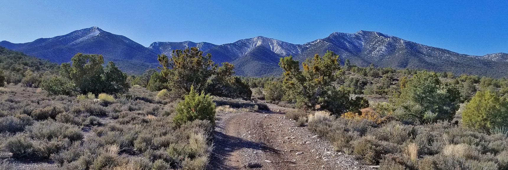 Heading Up 4wd Road Toward North Side of La Madre Mt. Nevada