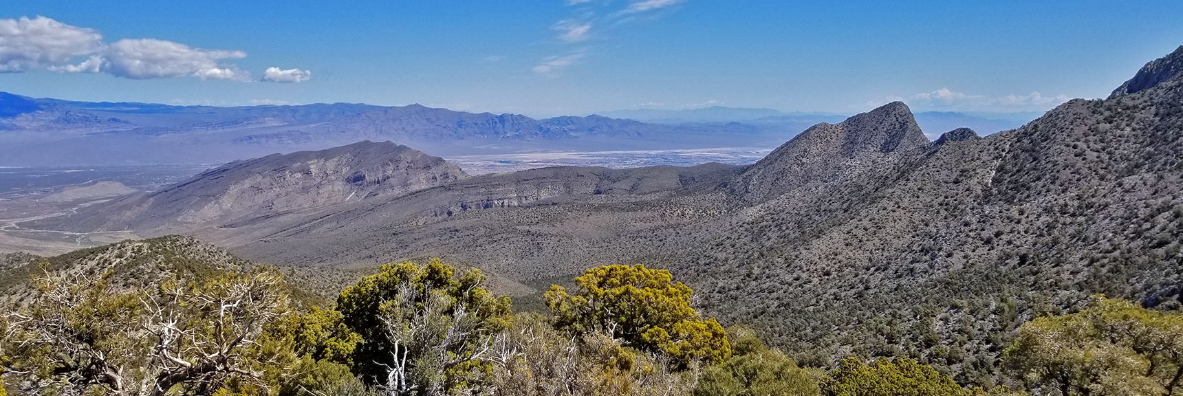 View of Gass Peak, North Las Vegas Valley and La Madre Mountains from Just North of La Madre Mt., Nevada