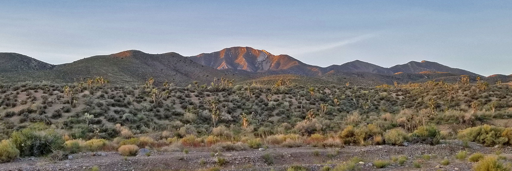 View from Kyle Canyon Road, La Madre Mountain Nevada Northern Approach and High Points