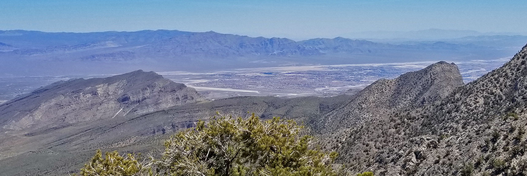 Gass Peak and Centennial Hills Viewed from the 7400ft High Point on the La Madre Mountain Nevada Northern Approach