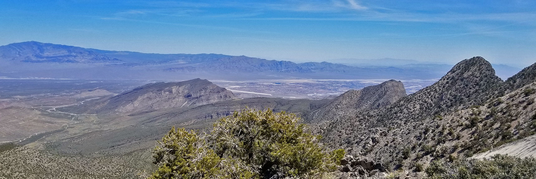Sheep Range, Gass Peak and Centennial Hills Viewed from the 7400ft High Point on the La Madre Mountain Nevada Northern Approach