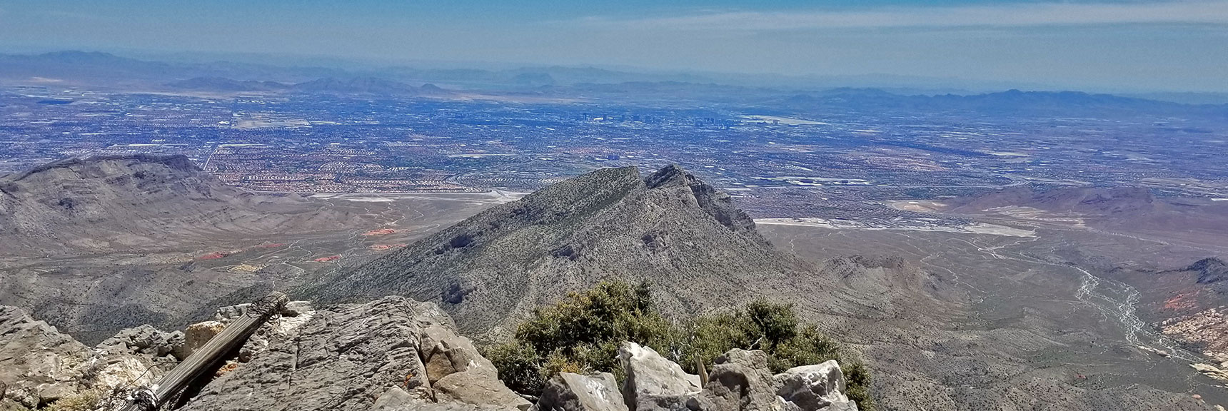 View of Las Vegas Valley from Summit of La Madre Mountain | La Madre Mountain Northern Approach, Nevada
