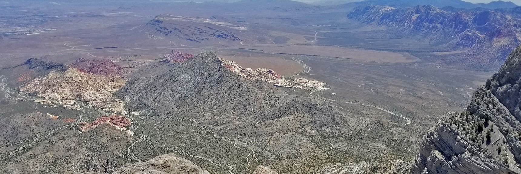 Calico Basin, Turtlehead Peak and Red Rock Canyon from La Madre Mountain Summit | La Madre Mountain Northern Approach, Nevada
