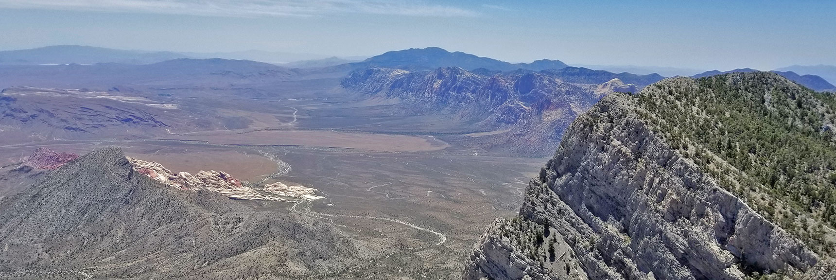 Red Rock Canyon and Rainbow Mountains from La Madre Mountain Summit | La Madre Mountain Northern Approach, Nevada