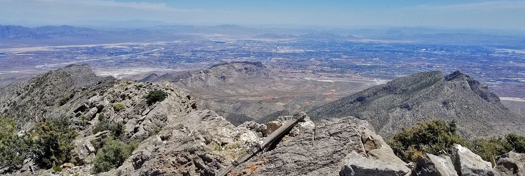 Mid Las Vegas Valley from La Madre Mountain Summit | La Madre Mountain Northern Approach, Nevada