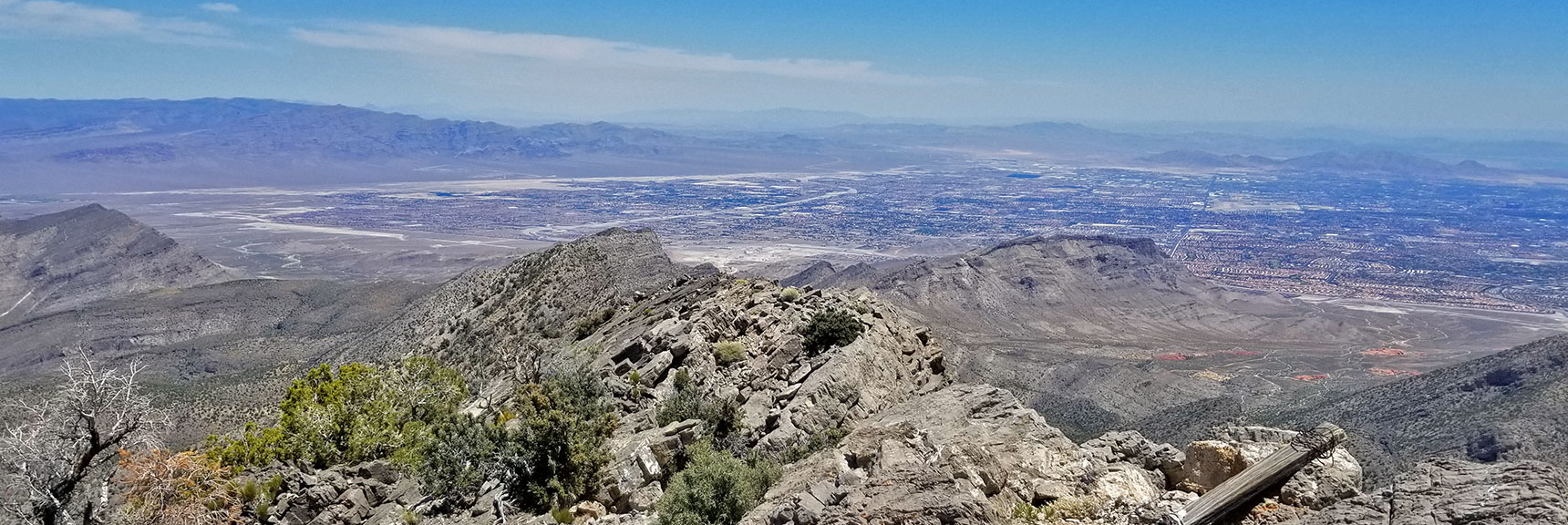 Mid-North Las Vegas Valley from La Madre Mountain Summit| La Madre Mountain Northern Approach, Nevada
