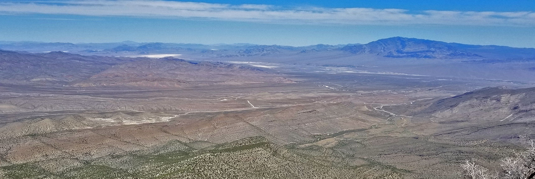 View Up I-95 Corridor Toward Reno from La Madre Mountain Summit | La Madre Mountain Northern Approach, Nevada