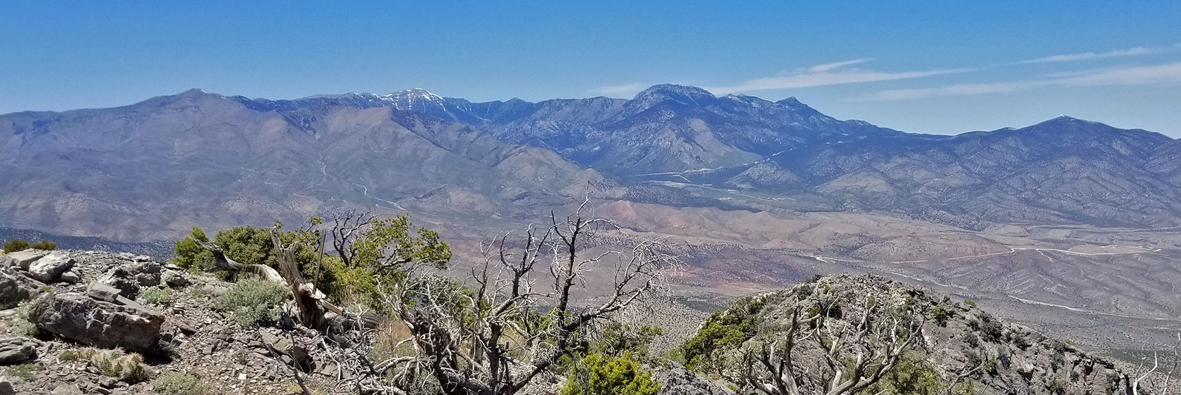 Mt. Charleston Wilderness Viewed from La Madre Mountain Summit | La Madre Mountain Northern Approach, Nevada