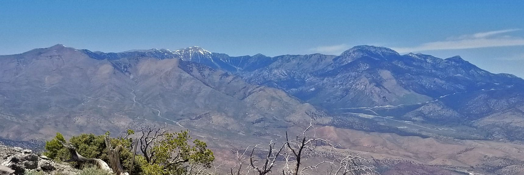 Close Up of Mt Charleston Wilderness Viewed from La Madre Mountain Summit | La Madre Mountain Northern Approach, Nevada