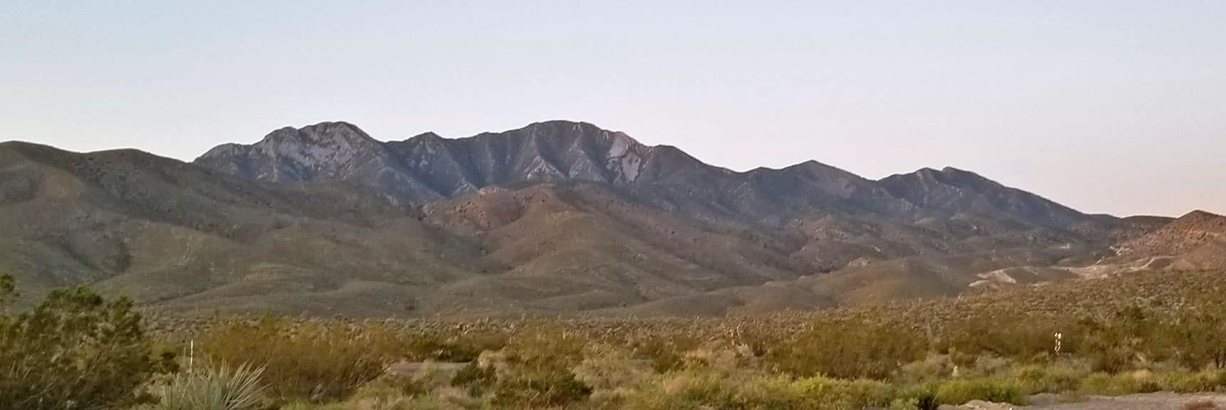 Morning View on the Way to El Padre Mountain, La Madre Mountains Wilderness, Nevada