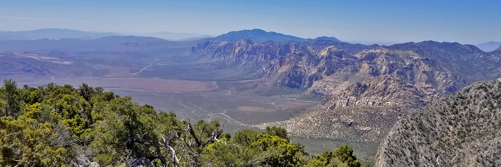 Red Rock National Park Viewed from Keystone Thrust West of El Padre Mountain, La Madre Mountains Wilderness, Nevada