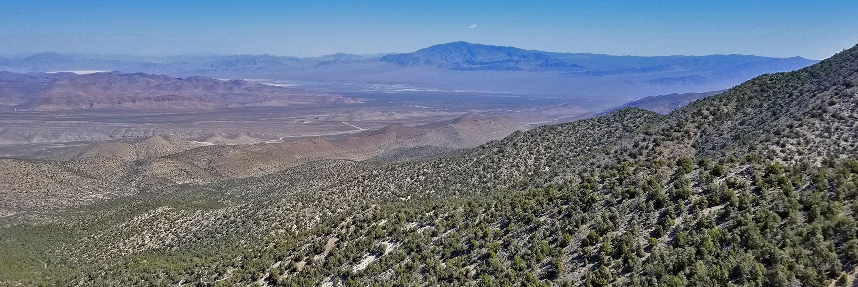 Sheep Range from Just West of El Padre Mountain, La Madre Mountains Wilderness, Nevada