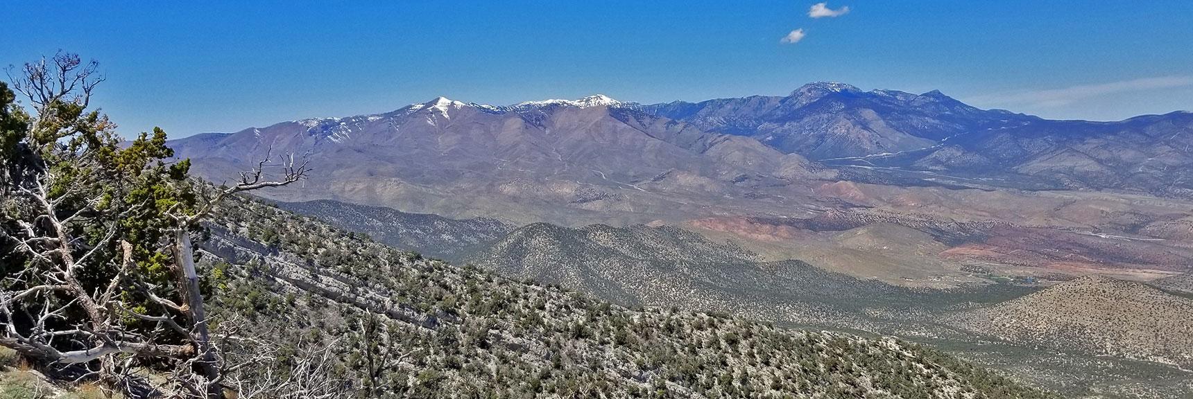 Mt Charleston Wilderness Viewed from Keystone Thrust Just West of El Padre Mountain, La Madre Mountains Wilderness, Nevada