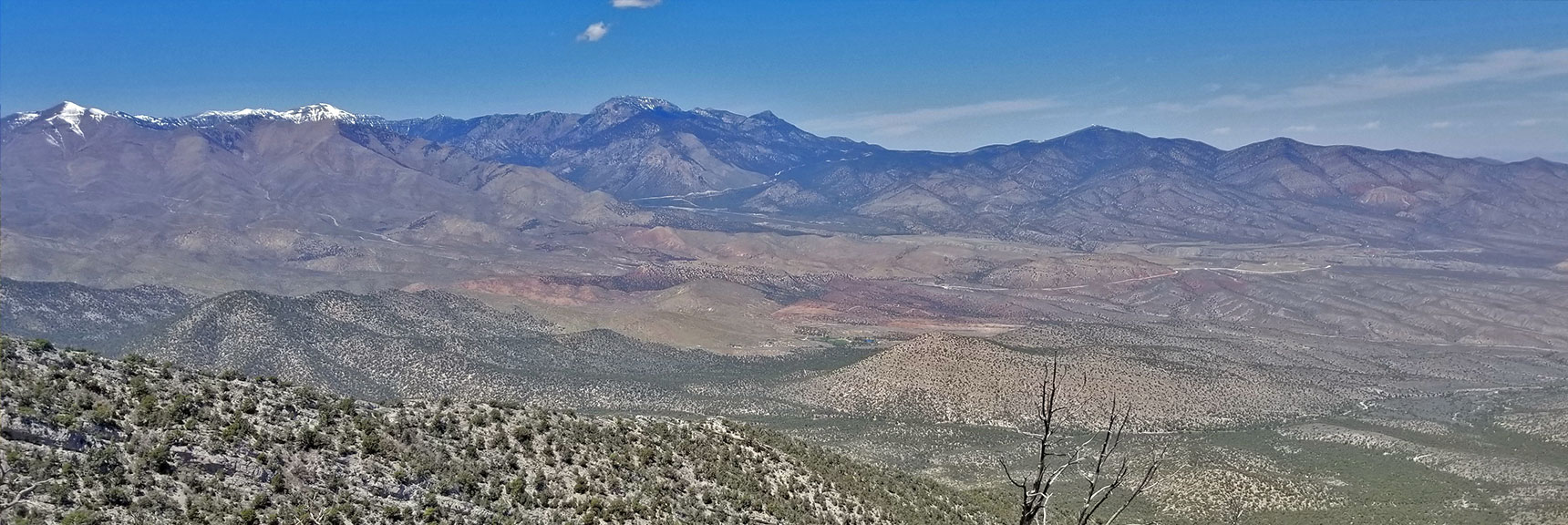 Mt. Charleston Wilderness & Kyle Canyon Viewed from Just West of El Padre Mountain, La Madre Mountains Wilderness, Nevada