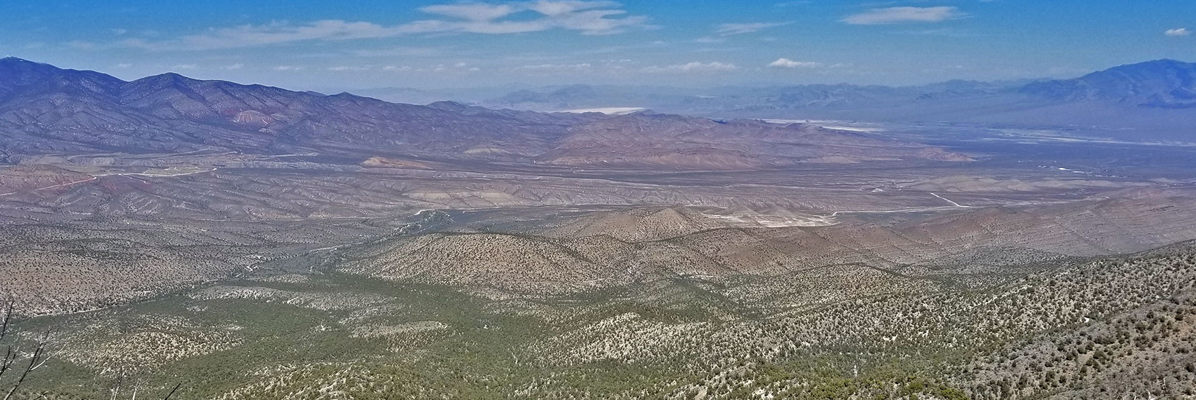 View North from Keystone Thrust Just West of El Padre Mountain, La Madre Mountains Wilderness, Nevada